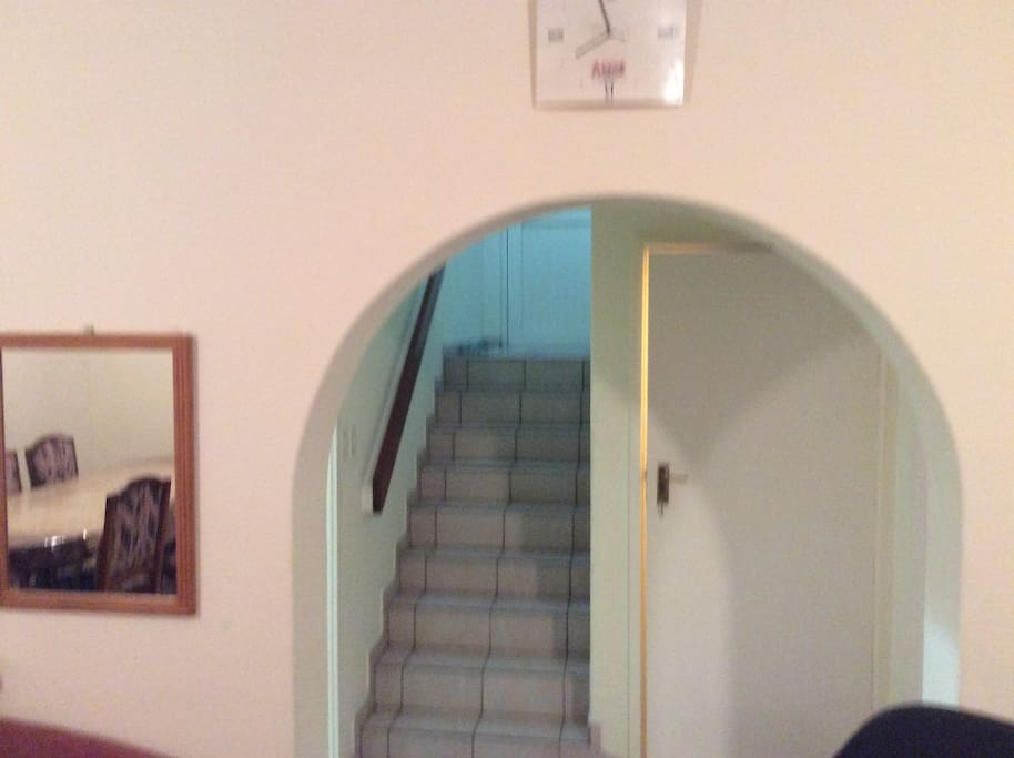 Staircase to upper bedrooms