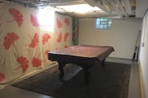 And a pool table in the basement for some extra fun!