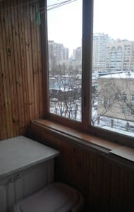 1 room flat on obolon - Apartamento