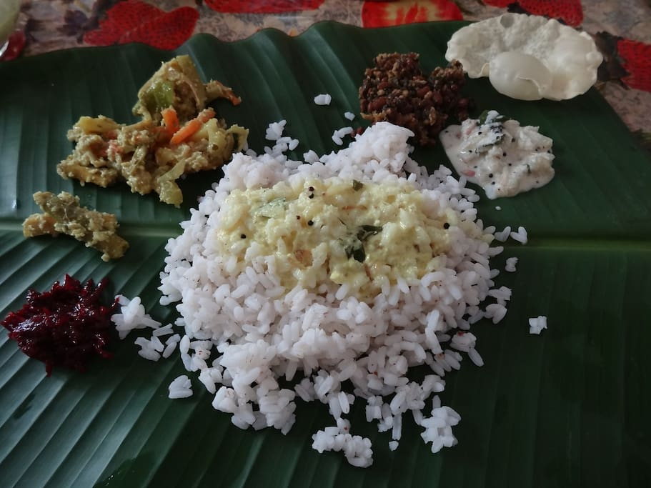 Delicious and traditional kerala food