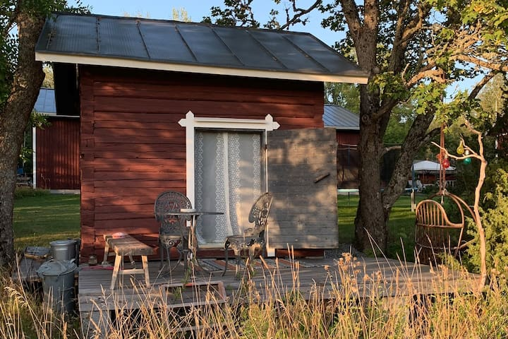 Cosy tiny cottage in Finnish landscape,