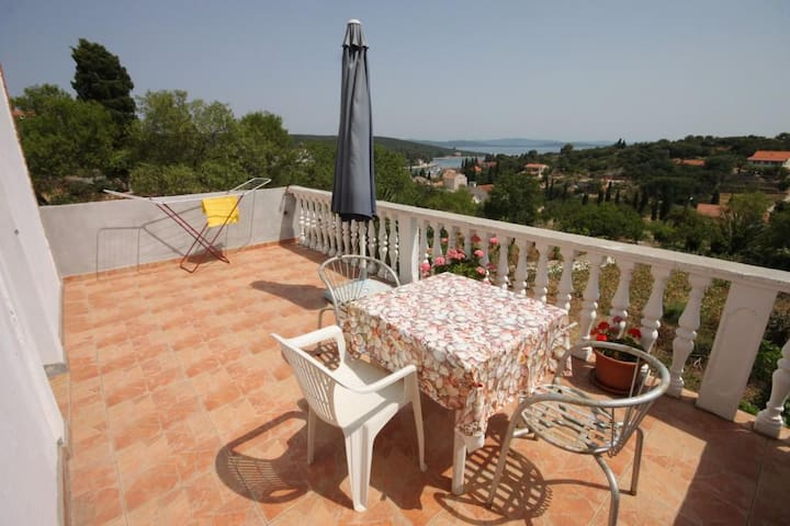 One bedroom apartment with terrace and sea view Žman, Dugi otok (A-449-b)