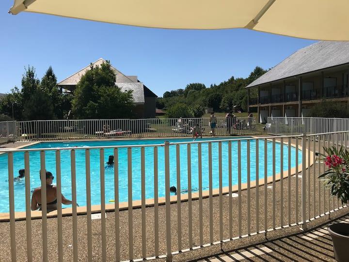 Studio Hauts de Honfleur - résidence avec piscine