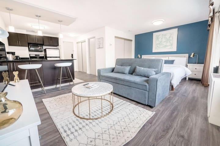 Modern Studio|King Bed|Downtown Convention+MTS Ctr