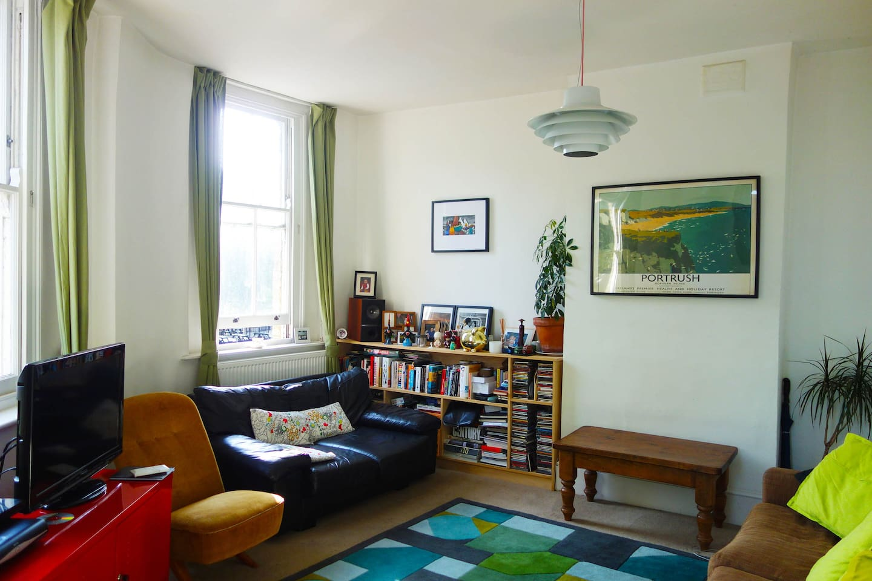 Our light filled living room