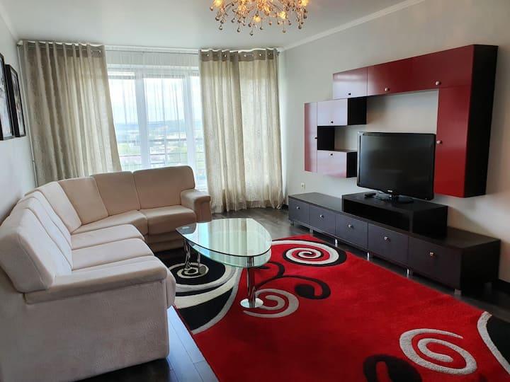 Элитная квартира с двумя спальнями и джакузи