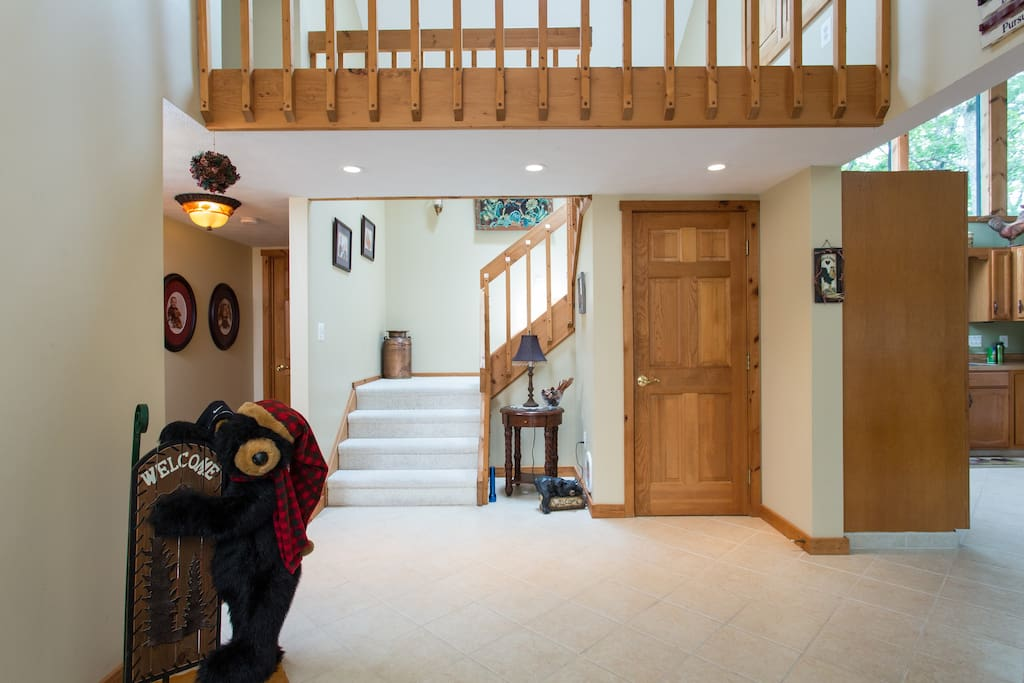 The entry to the home is bright and welcoming.
