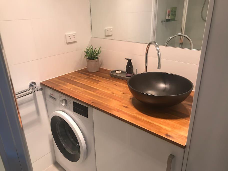 Washing Machine and bathroom