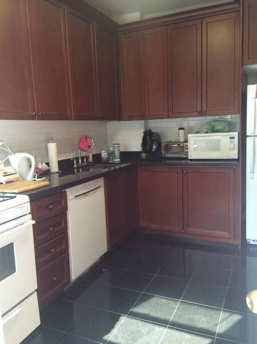 Newly renovated Kitchen (fridge, microwave, dishwasher, oven, coffee maker, etc.)