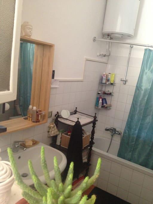 bagno con vasca/doccia e lavatrice
