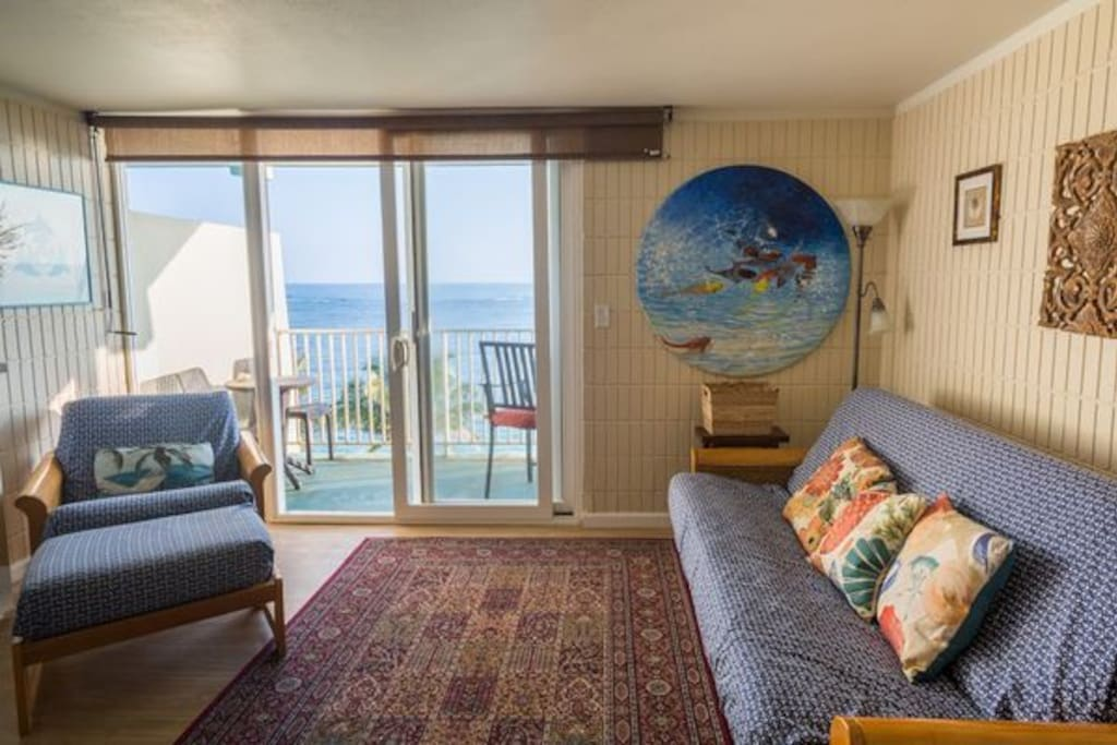 Ocean views right from the living area. (Unit 604)