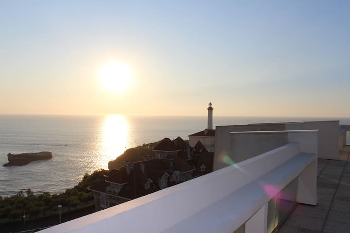 Charmant studio et piscine vue mer - Biarritz - Apartment