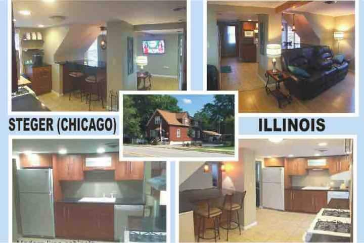 Contemporary 1 Bed Apartment 35 miles to Chicago