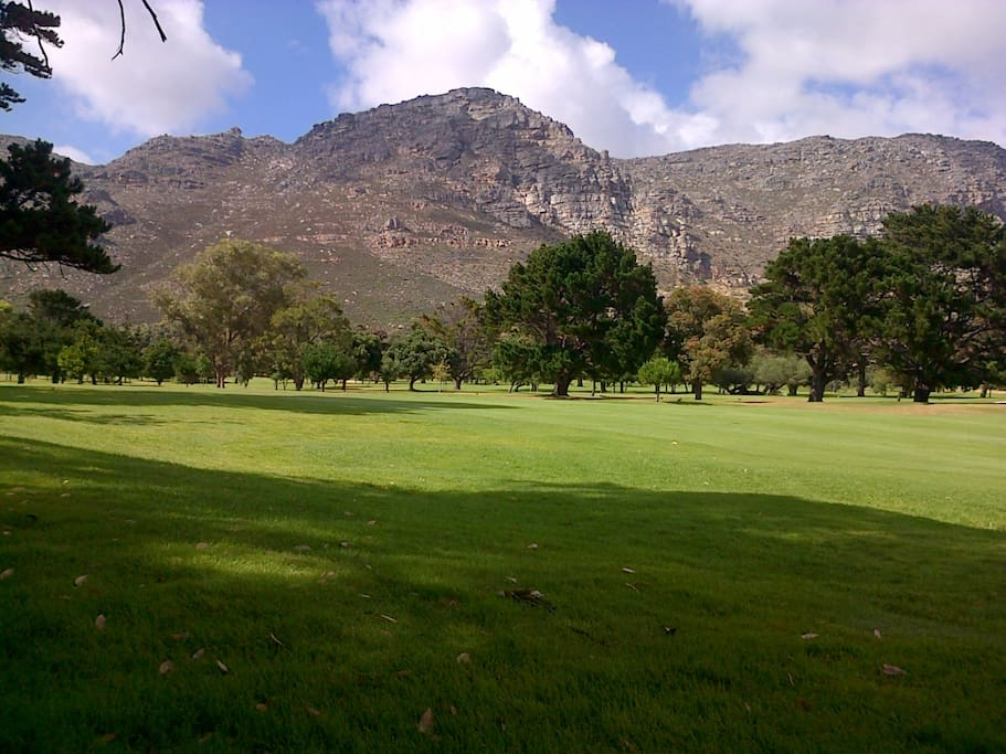 View from garden overlooking the golf course