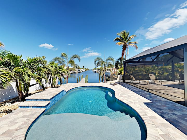 Canal-Front Home - Private Patio, Pool & Dock
