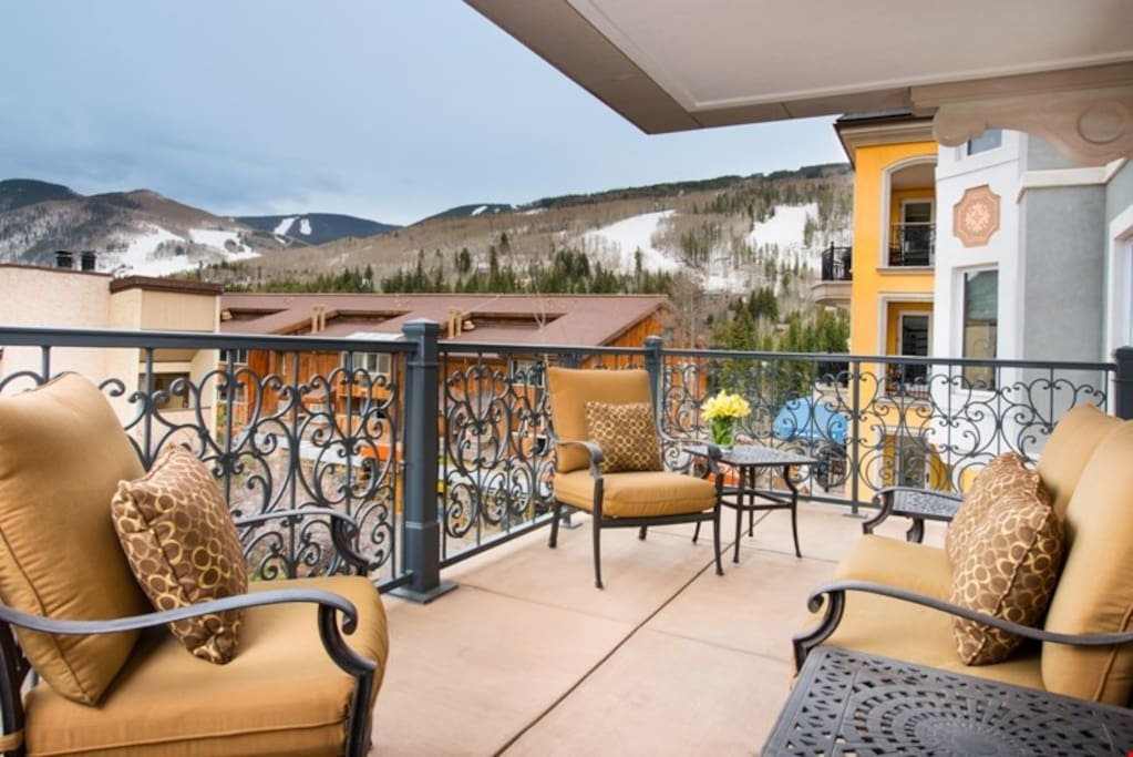 Relax outside on your private balcony.