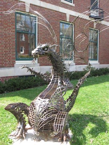 Edgar, our resident dragon!