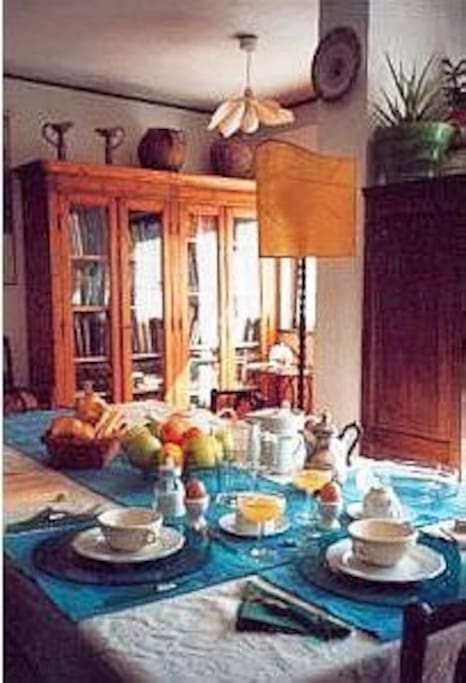 Indoor Breakfast Table