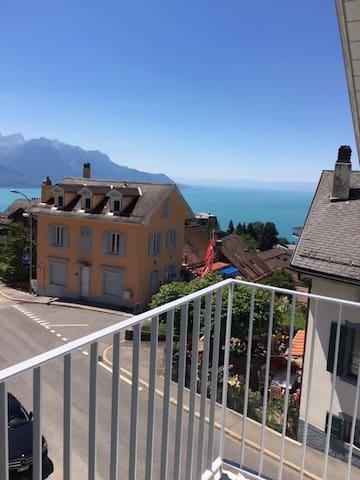 New Design Flat 70m2, view mountain/lake, 6 person - Glion - Apartment