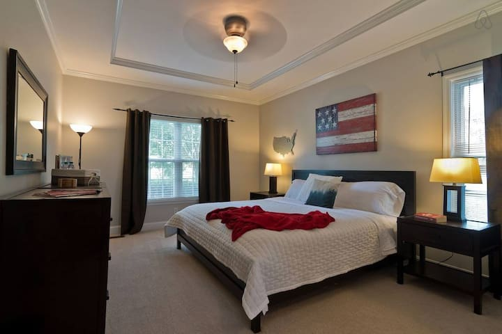 Ooltewah Master Suite with scenic view