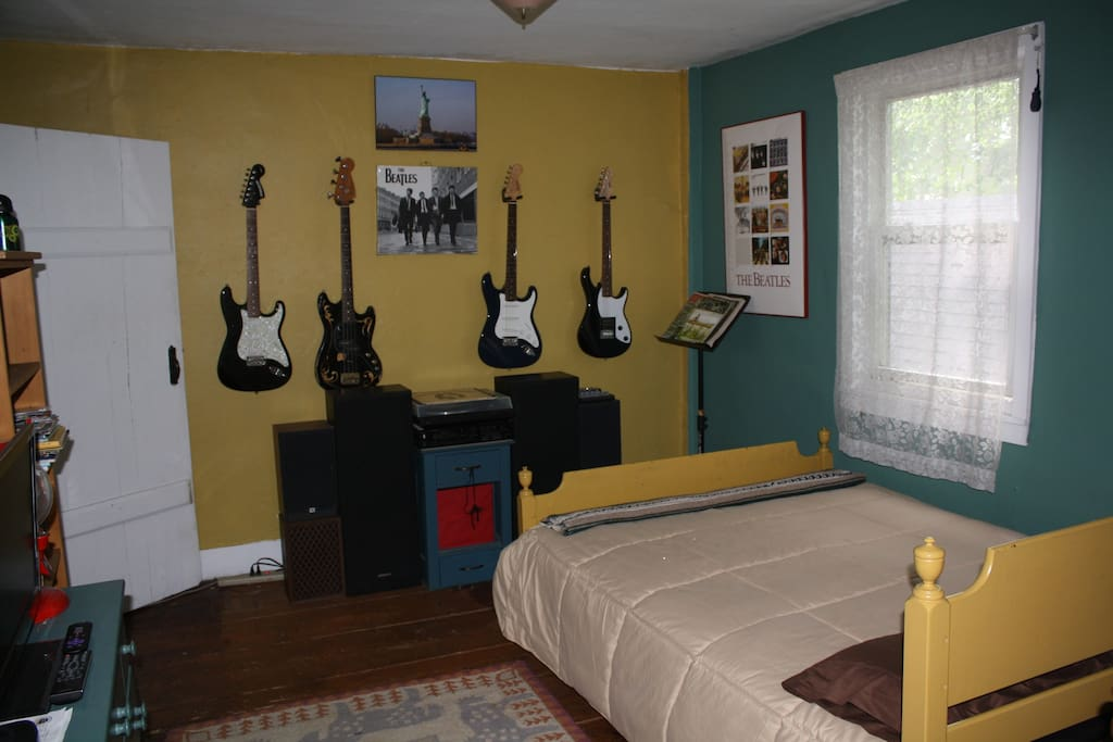 It is the also the music room with turntable and records