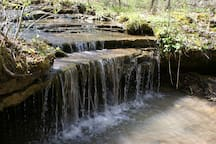 Small waterfall on the west side