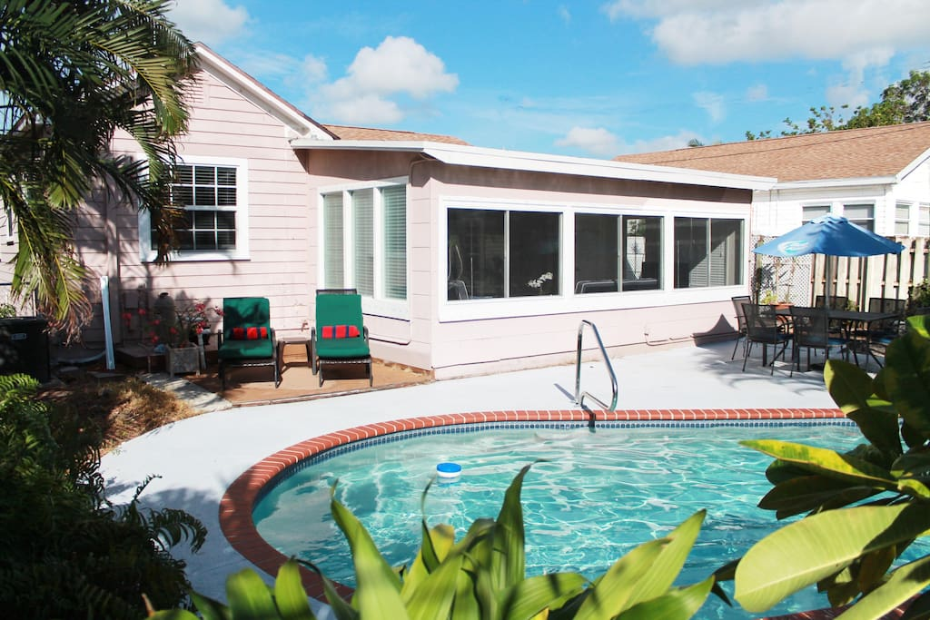 Key West Style Cottage With Pool Close To Beach Houses For Rent In Lake Worth Florida United