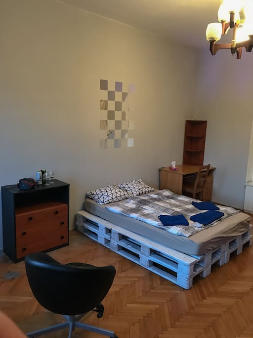 Bedroom, available for max 5people with extra beds