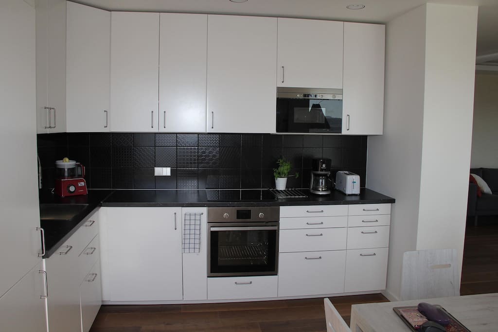 Fully equipped kitchen with all facilities within easy reach.