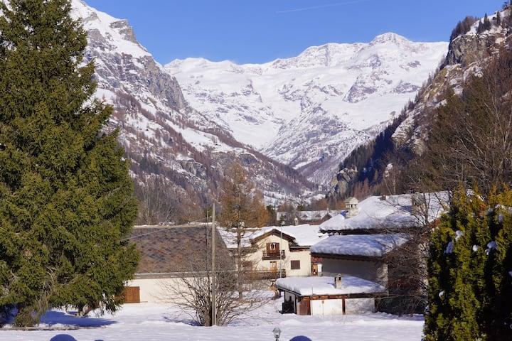 Paradiso con vista sul Rosa - Gressoney Saint Jean