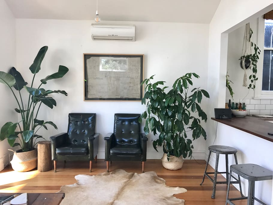 The second living area and sitting room / dining room