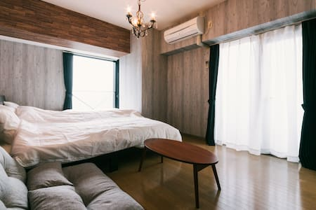 1 Bedroom Apt Hakata 2min>STA Easy Access WiFi - Apartmen