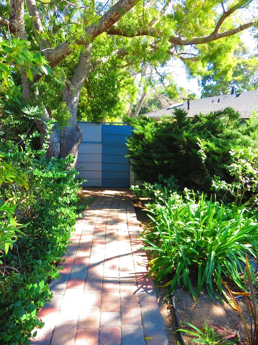 Your private entrance on the side of the house