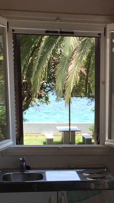 Sea view from living room