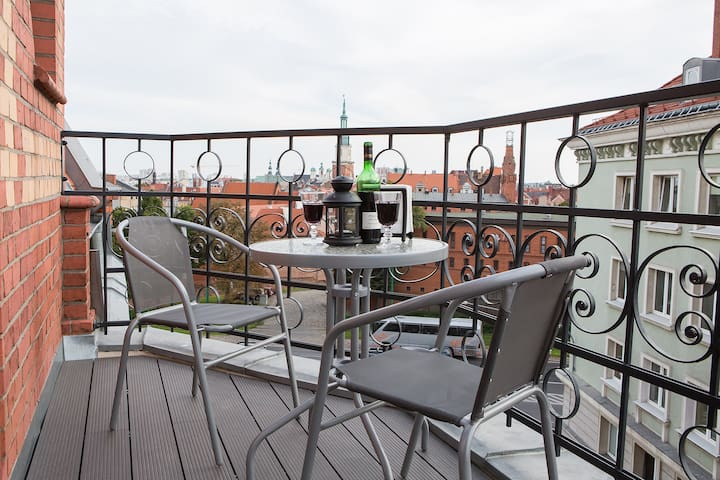 Living Apartments 6D1 (terrace - view of the city)