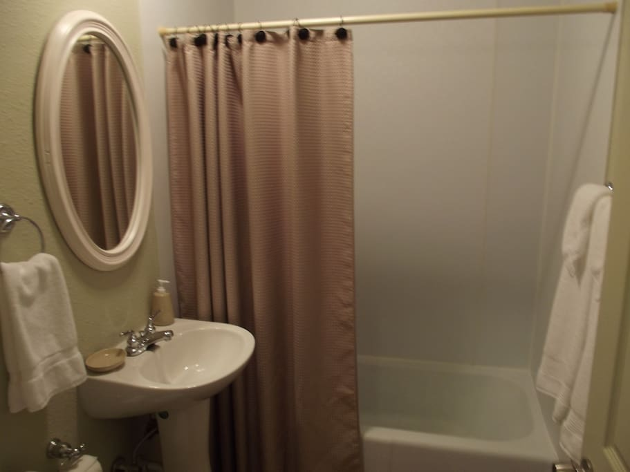 Clean, newly renovated bathroom