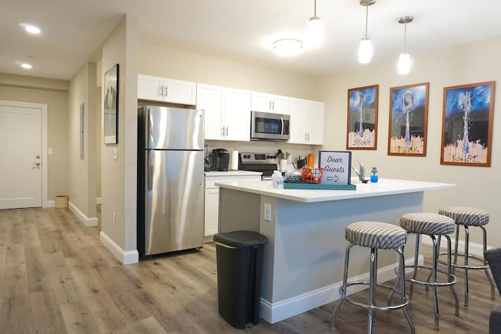 Brand-new & Luxurious 2BR APT | Perfect for long-term stays | Garage Parking | All Utilities Included