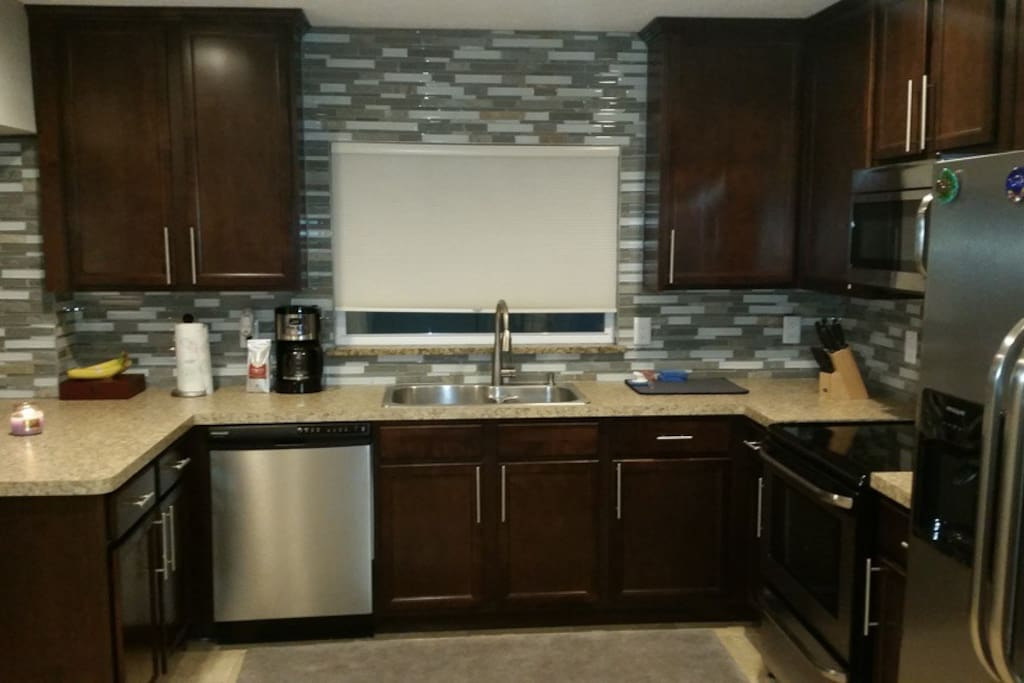 Gourmet kitchen with anything you need to cook or make a meal is available to you.