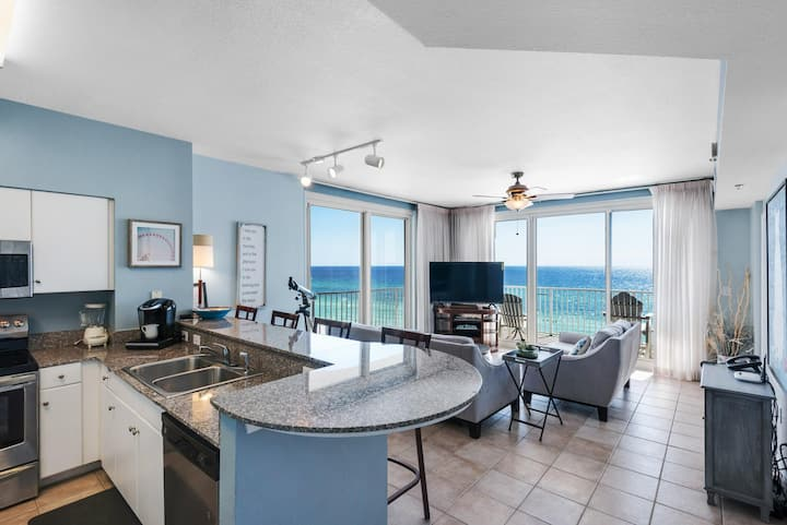 Gulf Front Spectacular Views, Same Floor Resvd Parking, Shores of Panama 703