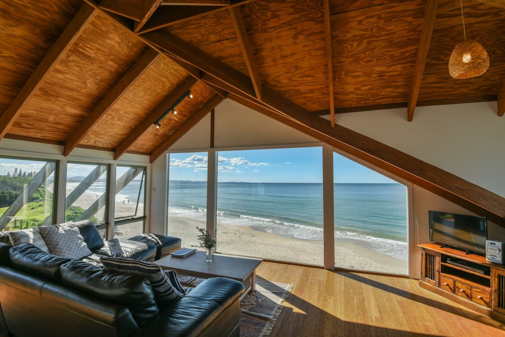 Watch the dolphins, surfers and whales from your living room