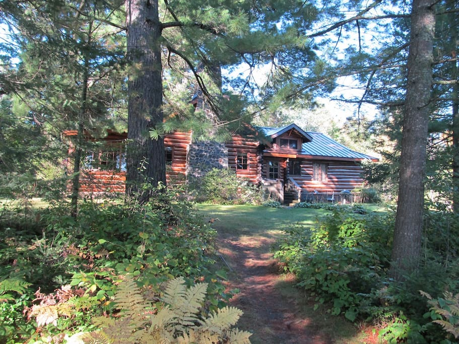 The Lodge from Lake pathway