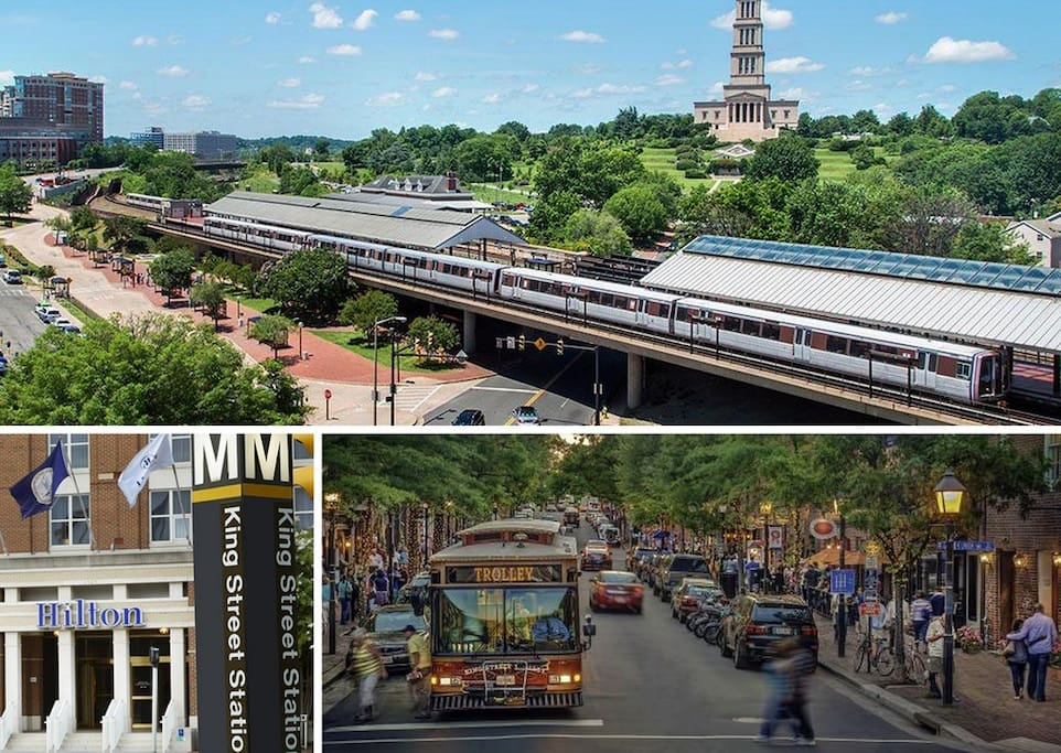 Close to train stations, Free Trolley & Old Town Alexandria