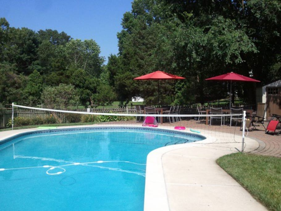 Pool and seating area