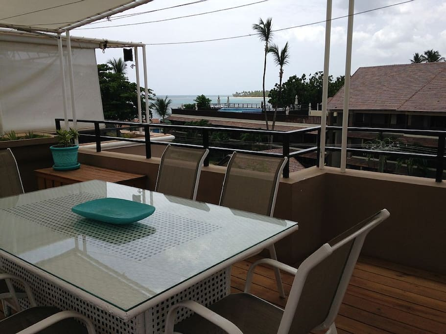 Eat your meals al fresco on your private roof deck with gorgeous ocean views.