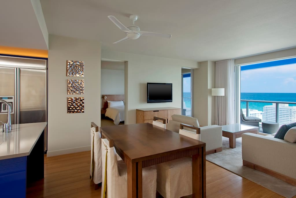 Ocean and Intracoastal Views from balconies off of each room in the Suite.