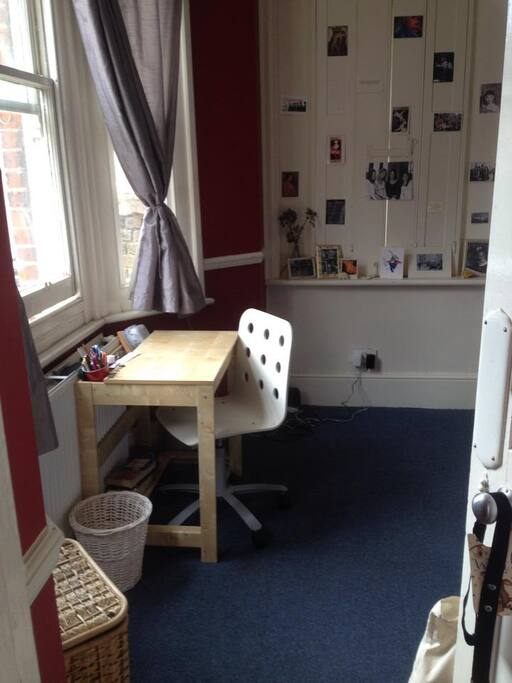 Desk facing window