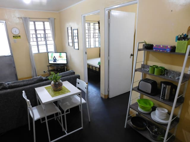 BEST VALUE 3 [Kitchen Garden 2Beds] Angeles Apart - Angeles City - Byt