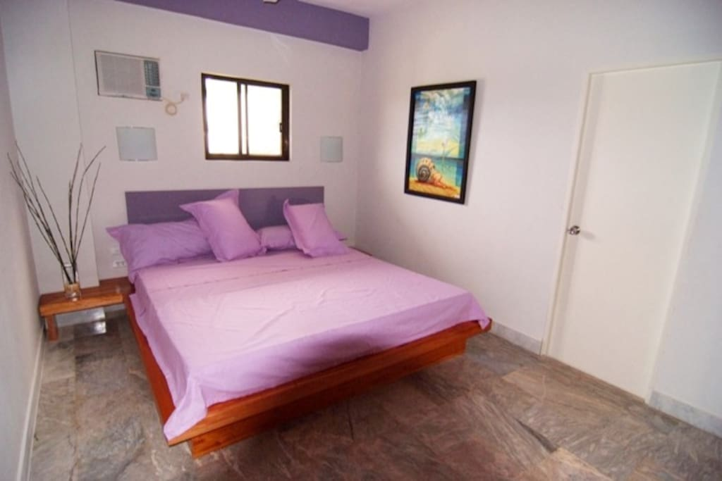 Bedroom with  bed size 78 inches by 88 inches