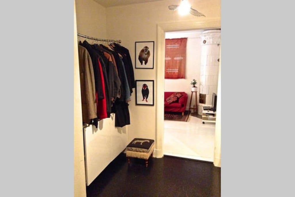 Entrance - hallway with generous storage area.