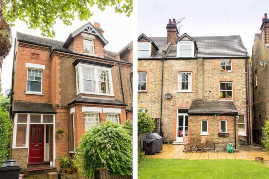 The flat is in a converted Victorian terraced house in a lovely leafy street